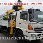 Xe tải Hino gắn cẩu Soosan 7 tấn