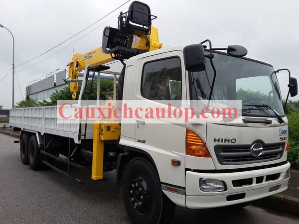Bán xe tải Hino FL8JTSL gắn cẩu Soosan 7 tấn SCS746L
