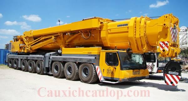 Cho thuê cẩu bánh lốp Liebherr LTM1500 trọng tải 500 tấn